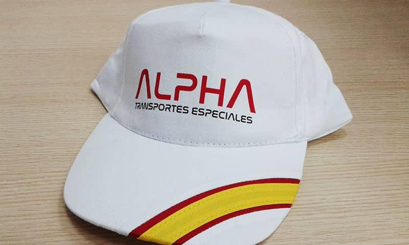 Gorras personalizadas en vinilo