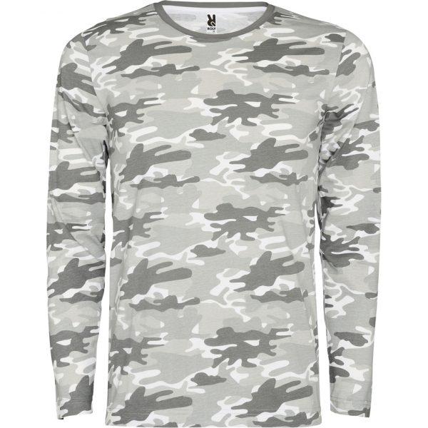 Camiseta Manga Larga Molano Roly - Camuflaje Gris