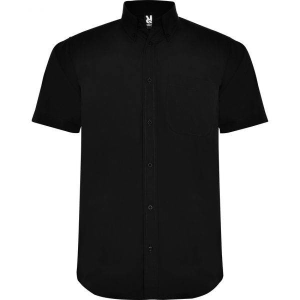 Camisa Manga Corta Aifos Roly - Negro