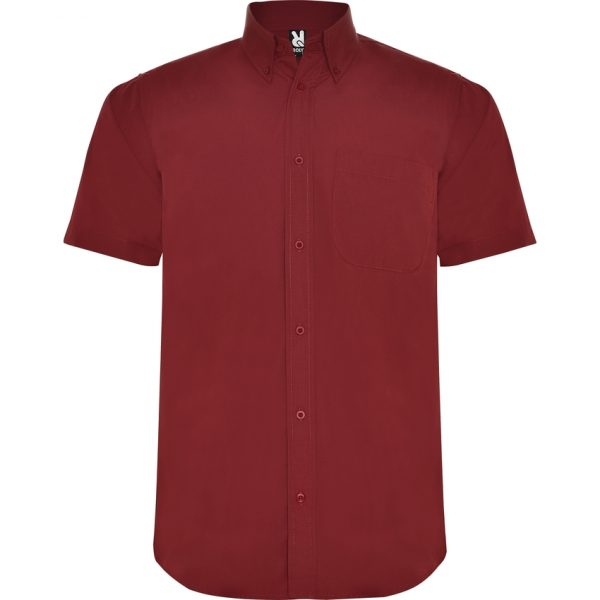 Camisa Manga Corta Aifos Roly - Granate