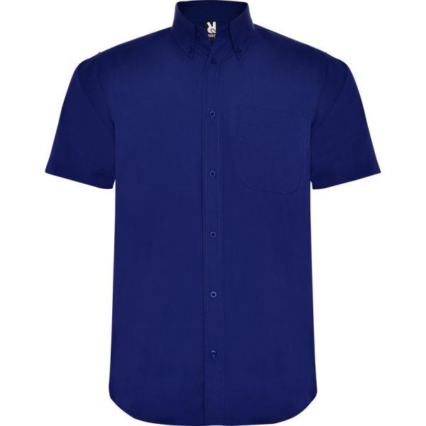 Camisa Manga Corta Aifos Roly - Azulina