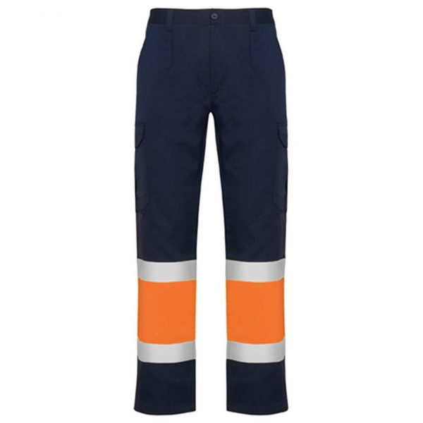 Pantalón Reflectante Naos Roly - Azul Marino/Naranja Fluor