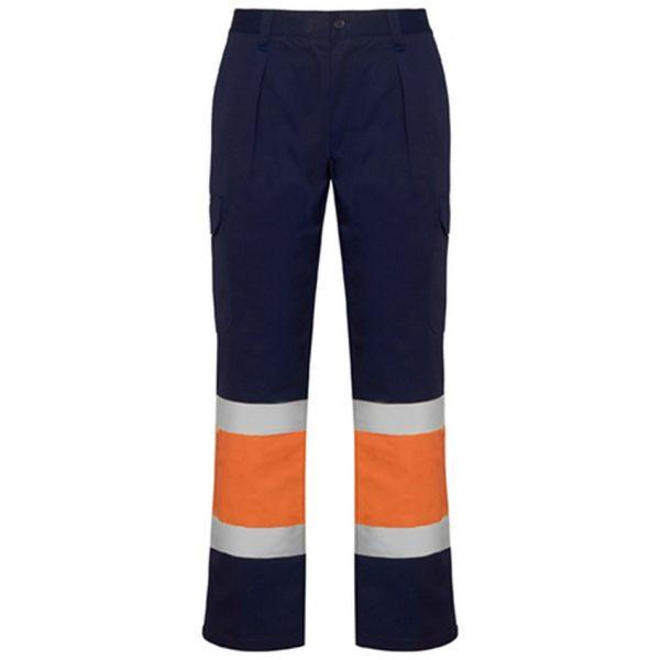 Pantalón Reflectante Soan Roly - Azul Marino/Naranja Fluor