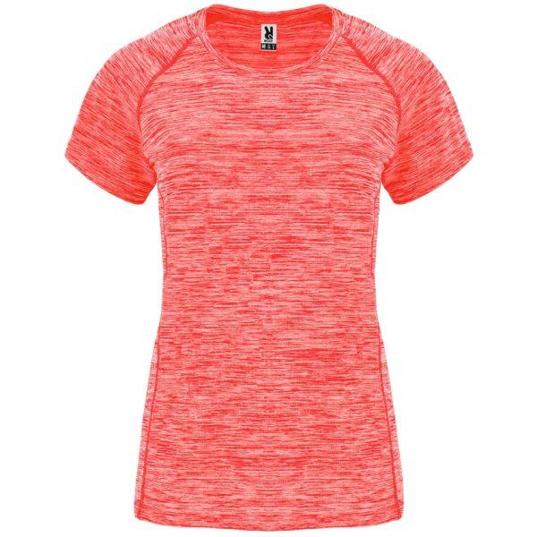 Camiseta Técnica Austin Woman Roly - Coral Fluor Vigore