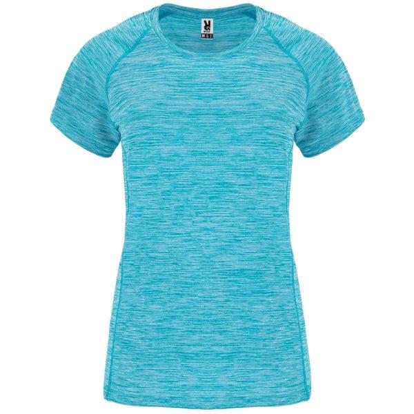 Camiseta Técnica Austin Woman Roly - Turquesa Vigore