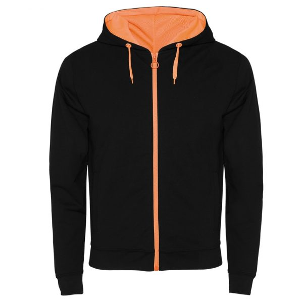 Chaqueta Felpa Fuji Roly - Negro/Naranja Fluor