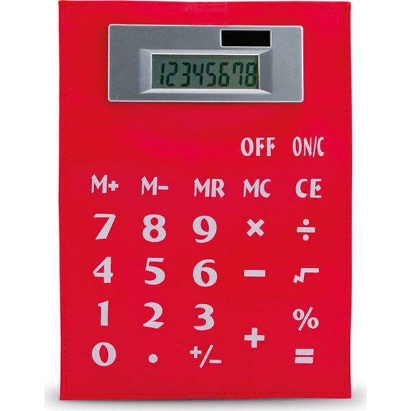 Calculadora Roll Up Makito - Rojo