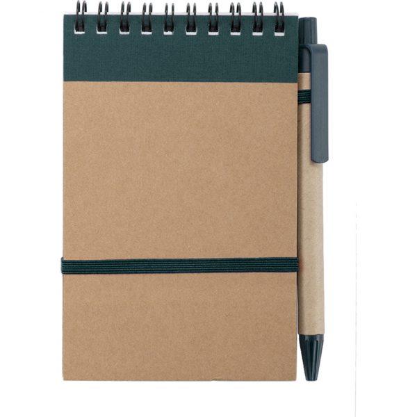 Libreta Ecocard Makito - Verde