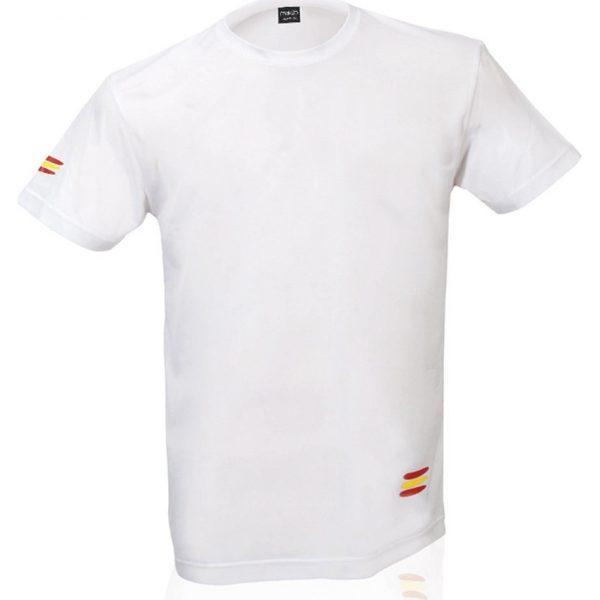 Camiseta Adulto Tecnic Bandera Makito - Blanco
