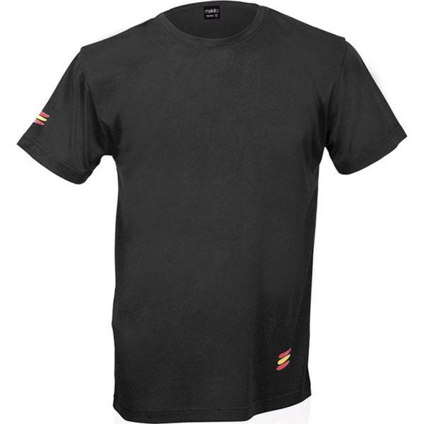 Camiseta Adulto Tecnic Bandera Makito - Negro