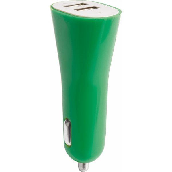 Cargador Coche USB Heyon Makito - Verde