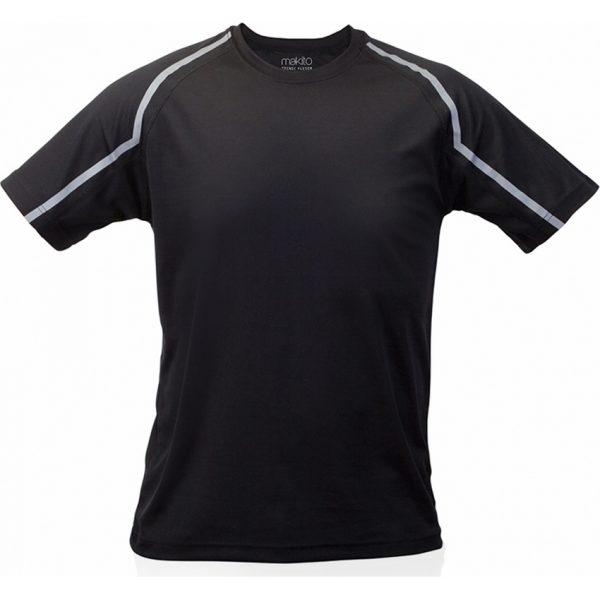 Camiseta Adulto Tecnic Fleser Makito - Negro