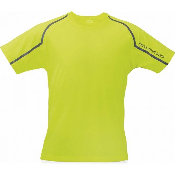 Camiseta Adulto Tecnic Fleser Makito - Amarillo Fluor