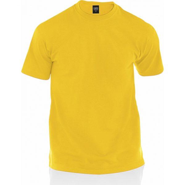 Camiseta Adulto Color Premium Makito - Amarillo