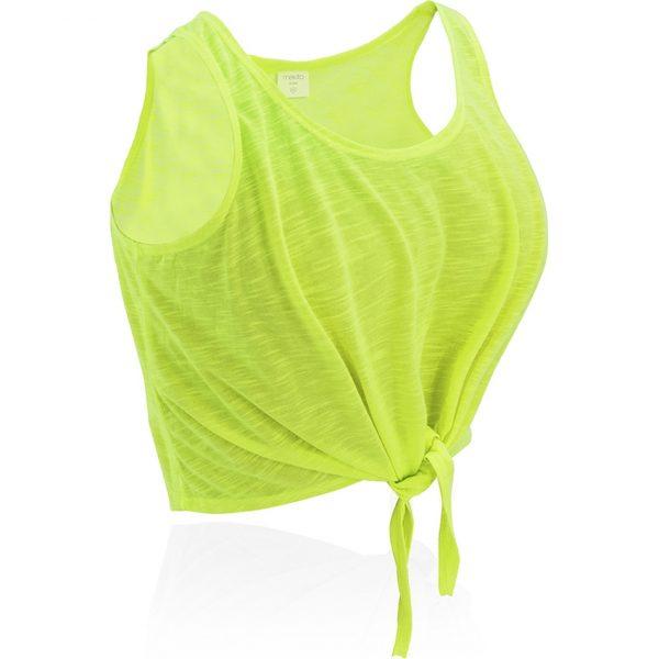 Camiseta Mujer Slem Makito - Amarillo Fluor