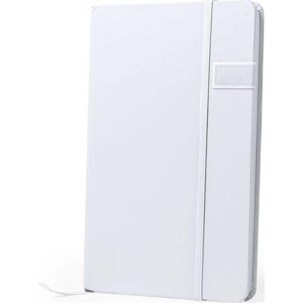 Bloc Notas USB Boltuk Makito - Blanco