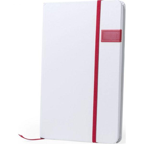 Bloc Notas USB Boltuk Makito - Rojo