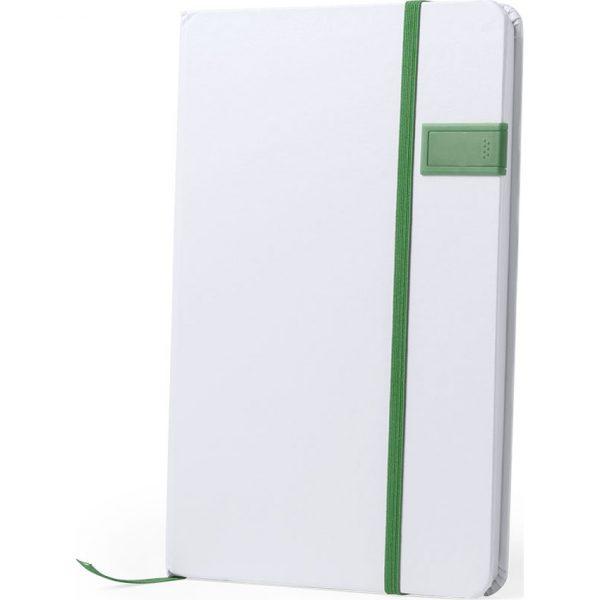 Bloc Notas USB Boltuk Makito - Verde
