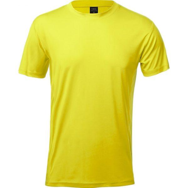 Camiseta Adulto Tecnic Layom Makito - Amarillo