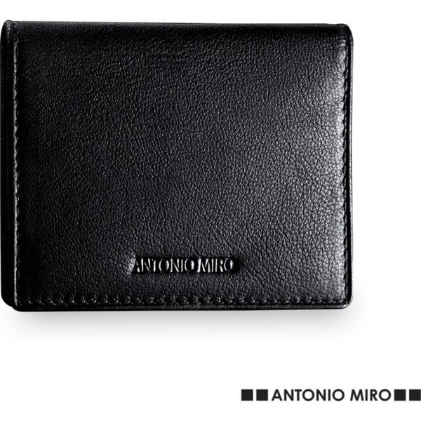 Tarjetero Billetero Lintus Antonio Miró - Negro