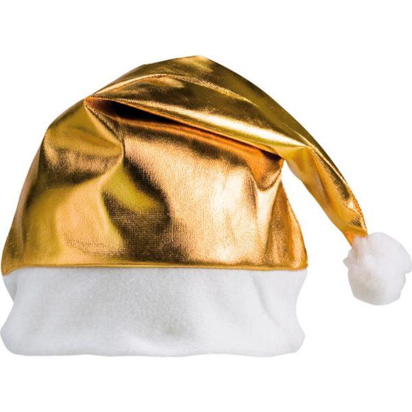 Gorro Papa Noel Shiny Makito - Dorado