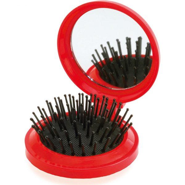 Cepillo con Espejo Glance Makito - Rojo