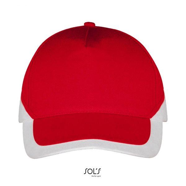 Gorra Booster Unisex Sols - Rojo / Blanco