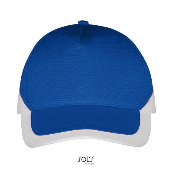 Gorra Booster Unisex Sols - Azul Royal / Blanco