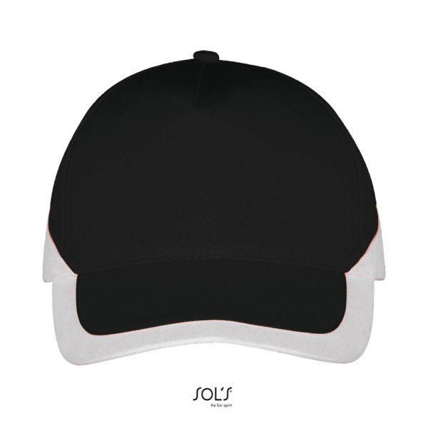 Gorra Booster Unisex Sols - Negro / Blanco