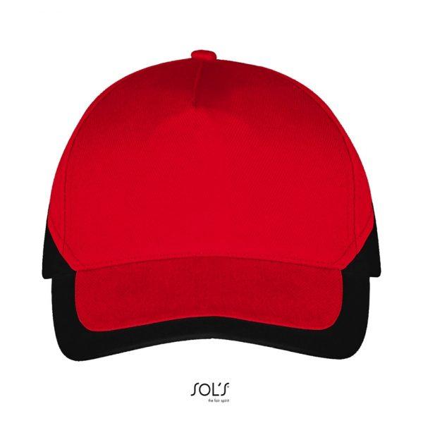Gorra Booster Unisex Sols - Rojo / Negro