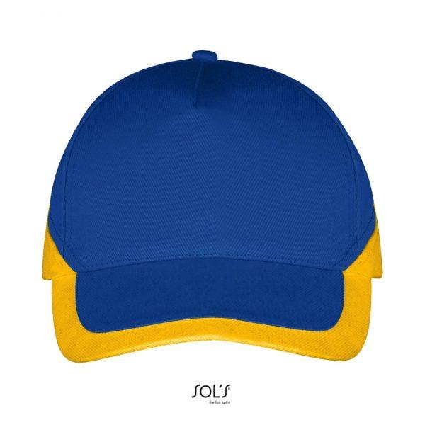 Gorra Booster Unisex Sols - Azul Royal / Amarillo