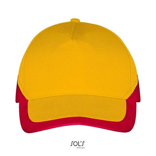 Gorra Booster Unisex Sols - Amarillo / Rojo