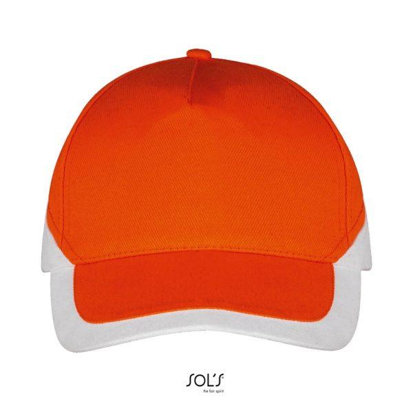Gorra Booster Unisex Sols - Naranja / Blanco