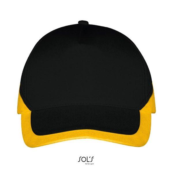 Gorra Booster Unisex Sols - Negro / Amarillo