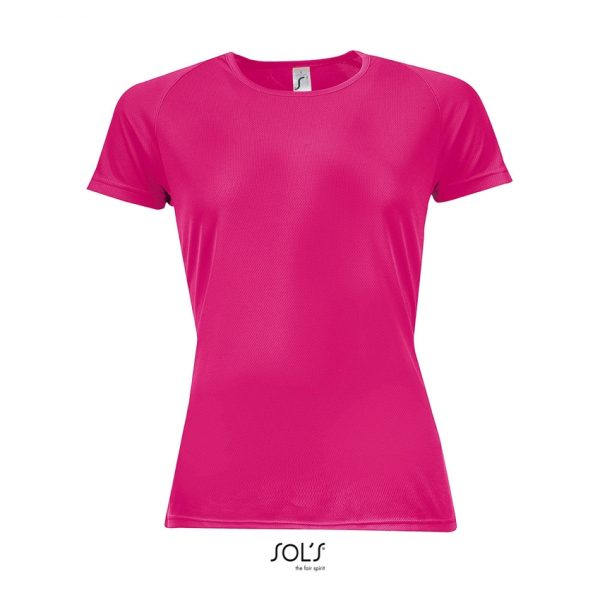 Camiseta Sporty Women Mujer Sols - Rosa Fluor 2