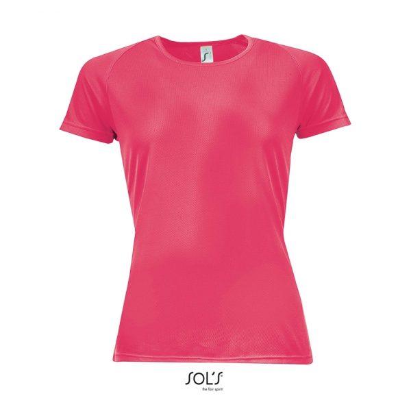 Camiseta Sporty Women Mujer Sols - Neón Coral