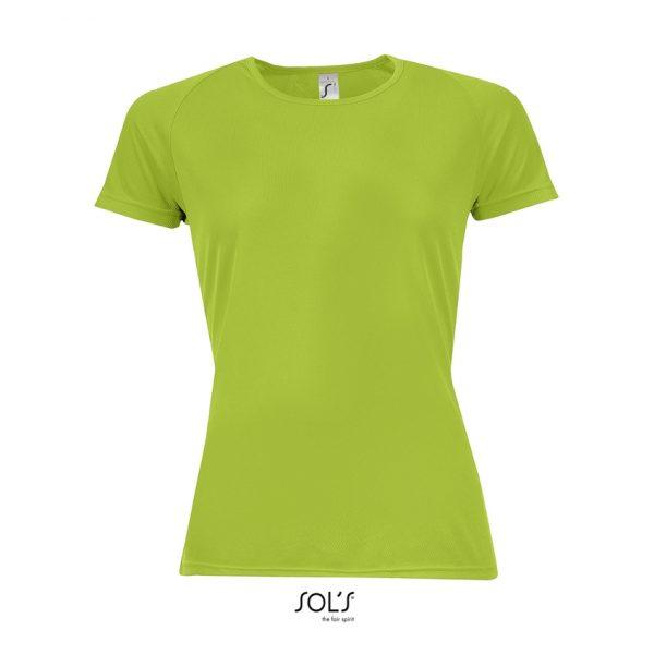 Camiseta Sporty Women Mujer Sols - Verde Manzana