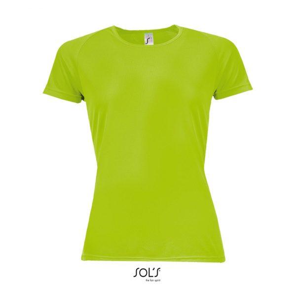 Camiseta Sporty Women Mujer Sols - Verde Neón
