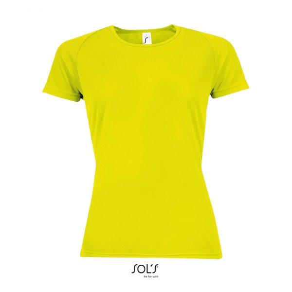 Camiseta Sporty Women Mujer Sols - Amarillo Neón