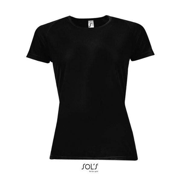 Camiseta Sporty Women Mujer Sols - Negro