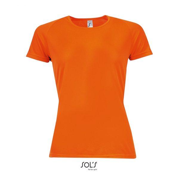 Camiseta Sporty Women Mujer Sols - Naranja Fluor