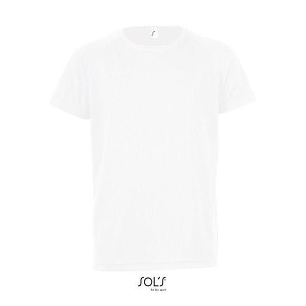 Camiseta Sporty Kids Niño Sols - Blanco