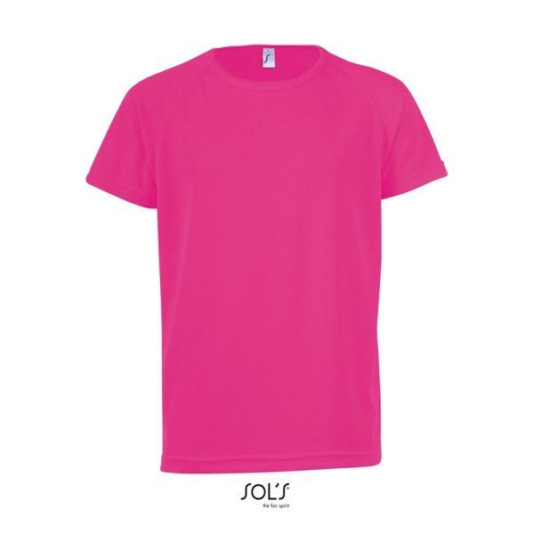 Camiseta Sporty Kids Niño Sols - Rosa Fluor 2