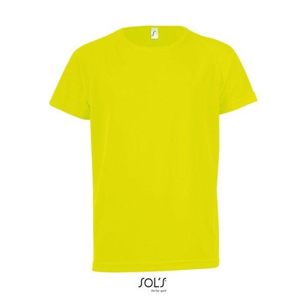 Camiseta Sporty Kids Niño Sols - Amarillo Neón