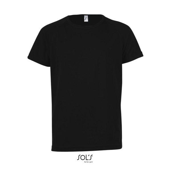 Camiseta Sporty Kids Niño Sols - Negro