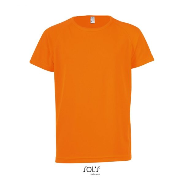 Camiseta Sporty Kids Niño Sols - Naranja Fluor