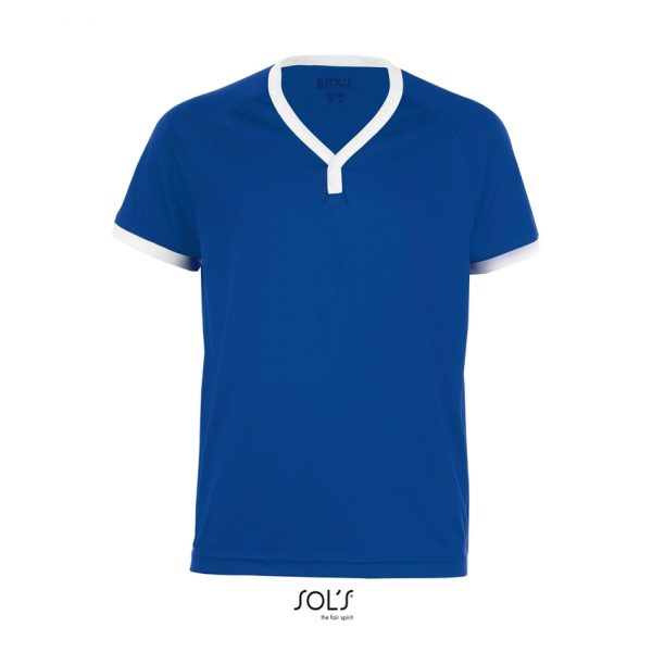 Camiseta Atletico Kids Niño Sols - Azul Royal / Blanco