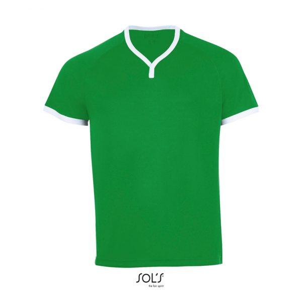 Camiseta Atletico Hombre Sols - Verde Flash / Blanco