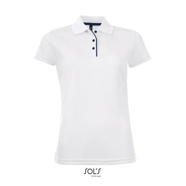 Polo Performer Women Mujer Sols - Blanco