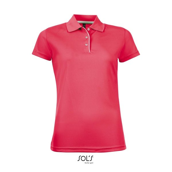 Polo Performer Women Mujer Sols - Neón Coral
